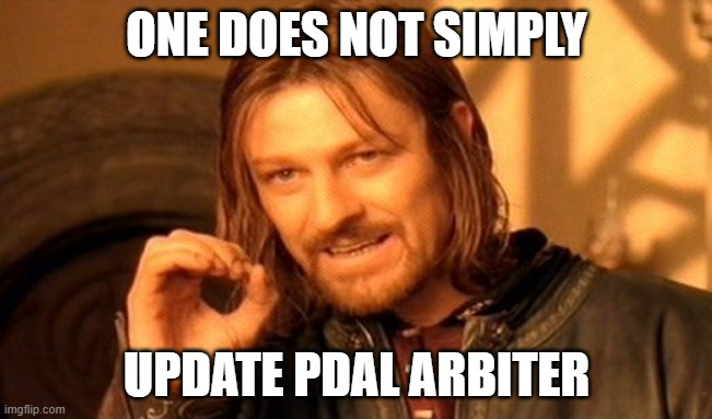 one does not simply update arbiter