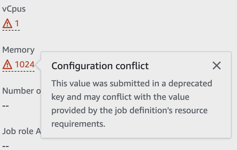 """screenshot of """"configuration conflict"""" warning message"""
